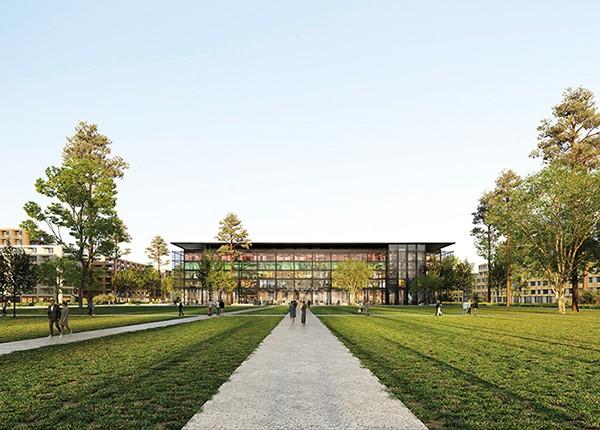 le parc Trapèze et la Scène digitale
